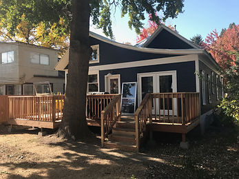 home addition renovation custom redwood deck vintage downtown boise design