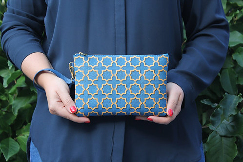 Clutch Blue and Gold Azulejo