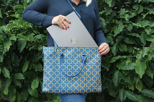 Handtas - Blauw en Goud Azulejo