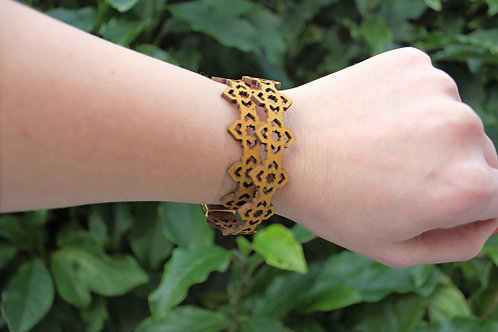 Bracelet inspired by Moroccan geometry - Yellow