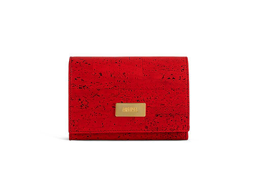 Cork Wallet - Orange