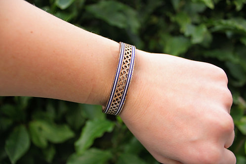 Bracelet with Blue and Silver