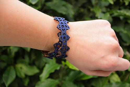Bracelet inspired by Moroccan geometry - Blue
