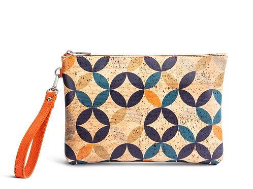 Clutch with colourful geometry