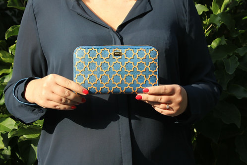 Wallet Blue and Gold Azulejo