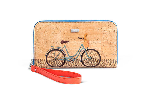 Wallet Natural cork with bicycle