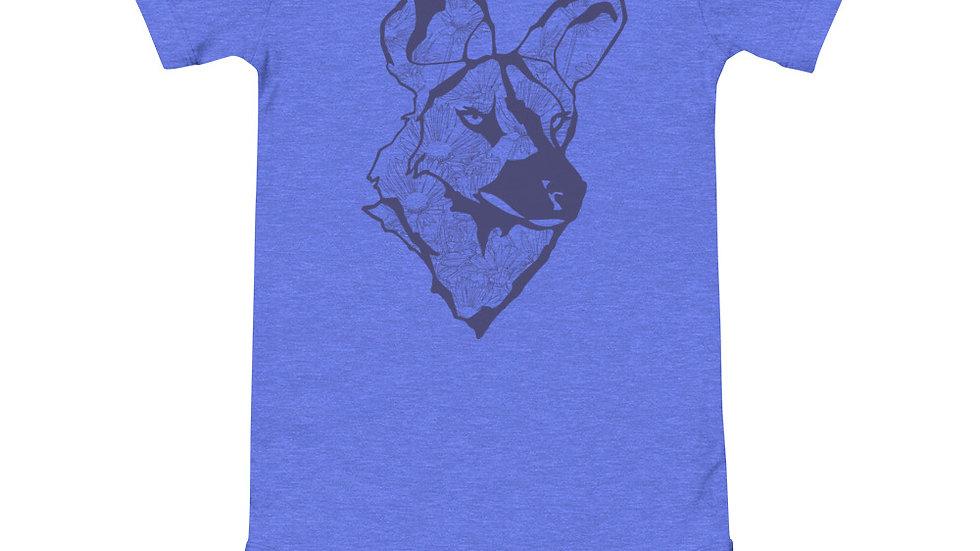 Wild dog dandelion - blue print babygrow