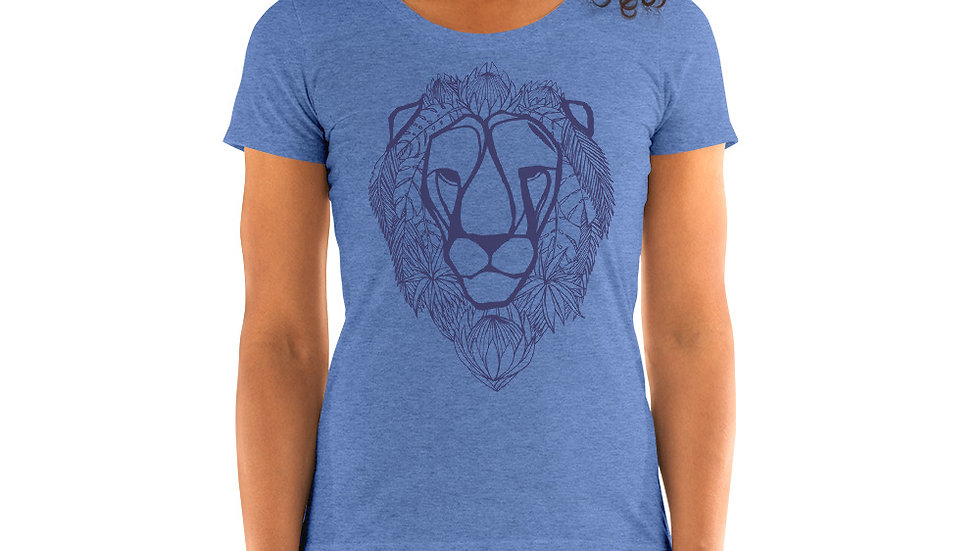 Ladies' T - blue lion with proteas