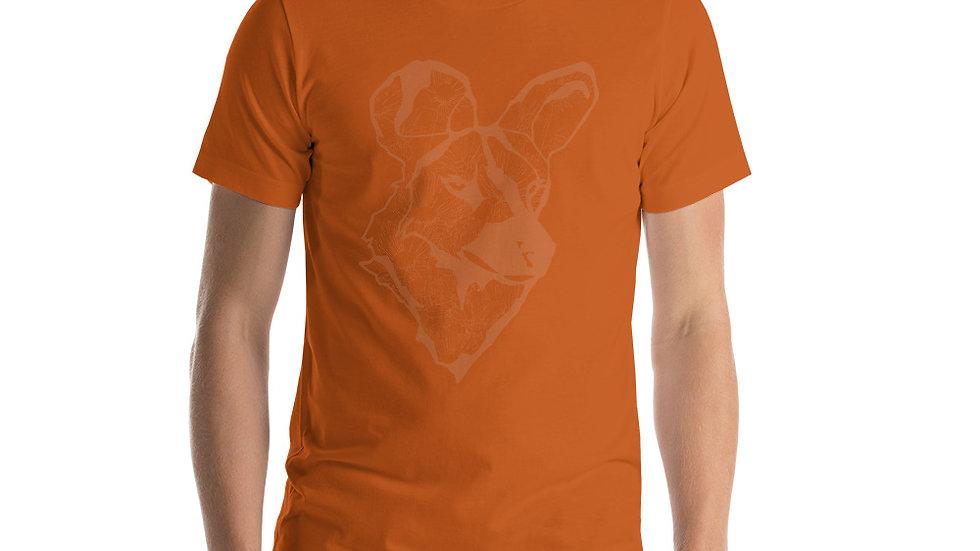 Wild dog with dandelions Short-Sleeve Unisex T-Shirt