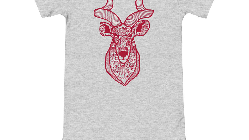 Kudu proteas - red print babygrow