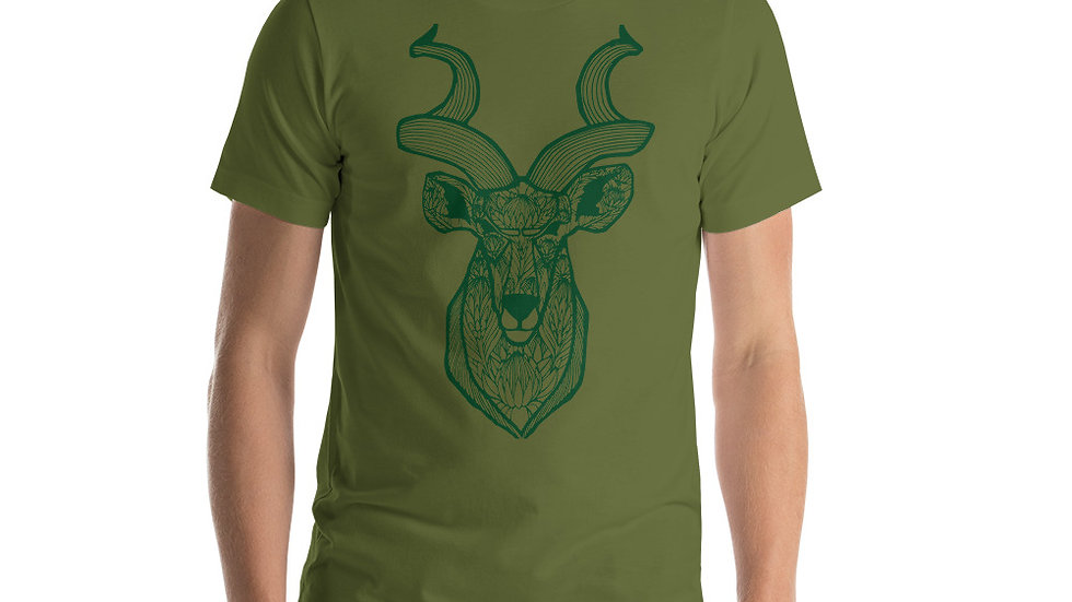 Green Kudu with King Proteas Short-Sleeve Unisex T-Shirt