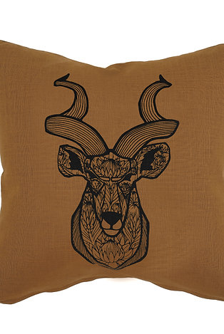 Cushion cover - Kudu with King Protea