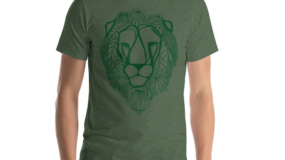 Green lion with King Proteas Short-Sleeve Unisex T-Shirt