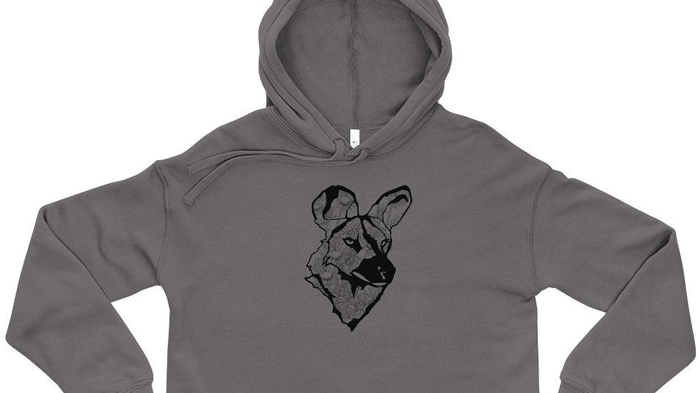 Crop Hoodie - wild dog