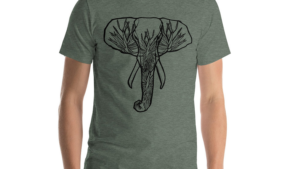 African Elephant with Aloes Short-Sleeve Unisex T-Shirt