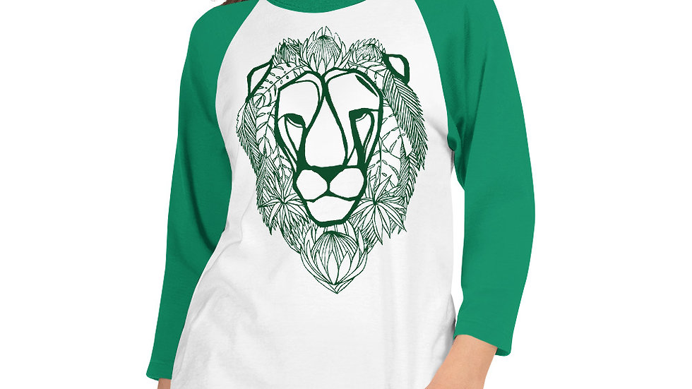 3/4 sleeve Green Lion with Proteas
