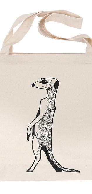 Tote bag - Meerkat with Rooibos plant