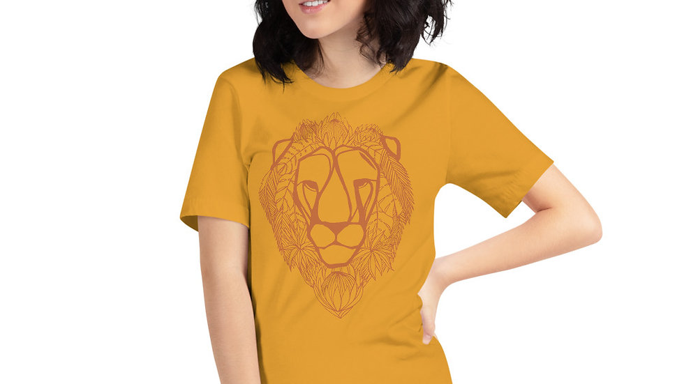Orange Lion with King Proteas Short-Sleeve Unisex T-Shirt