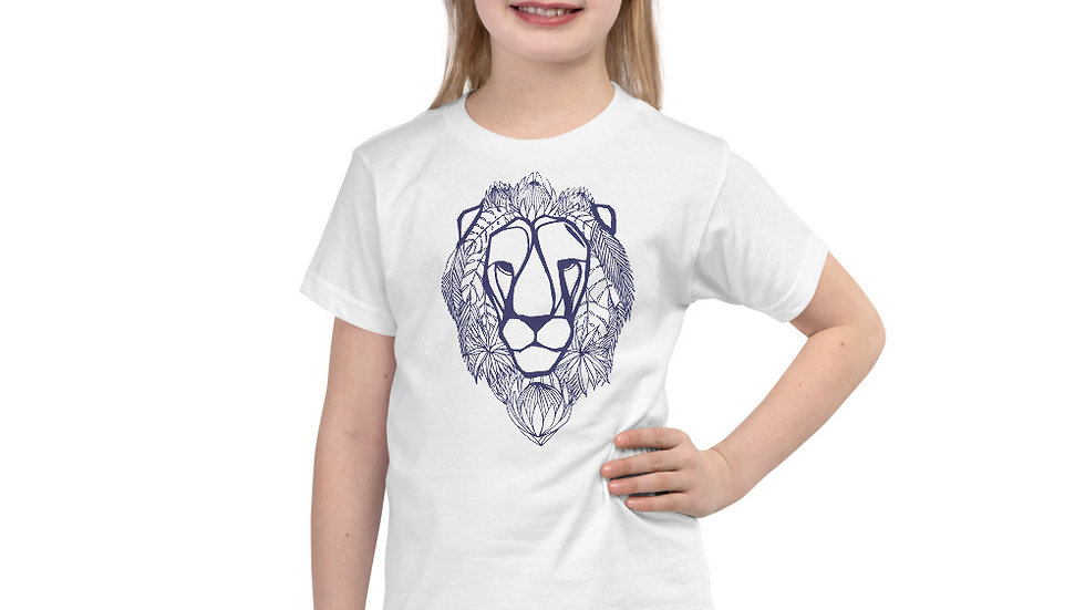 Lion with proteas blue 2 - 6 yrs Short sleeve kids t-shirt copy copy copy copy