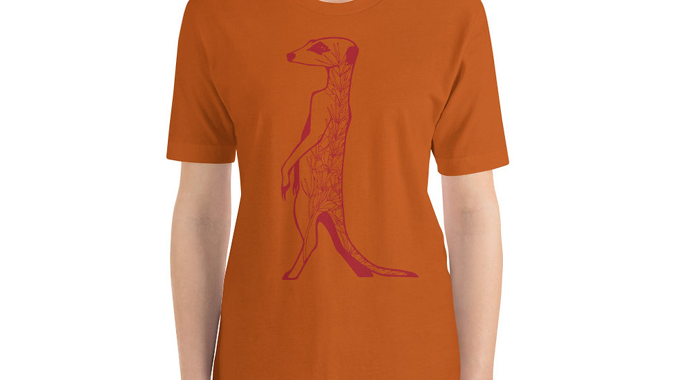 Red meerkat with rooibos Short-Sleeve Unisex T-Shirt