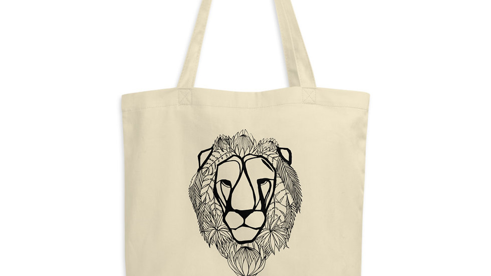 Lion with King Proteas Eco Tote Bag