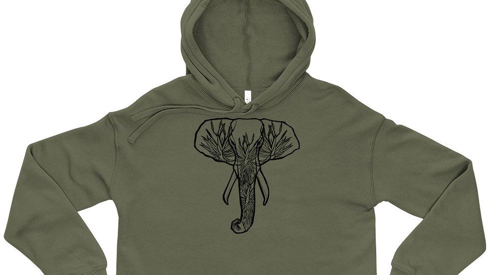 Crop Hoodie -Elephant