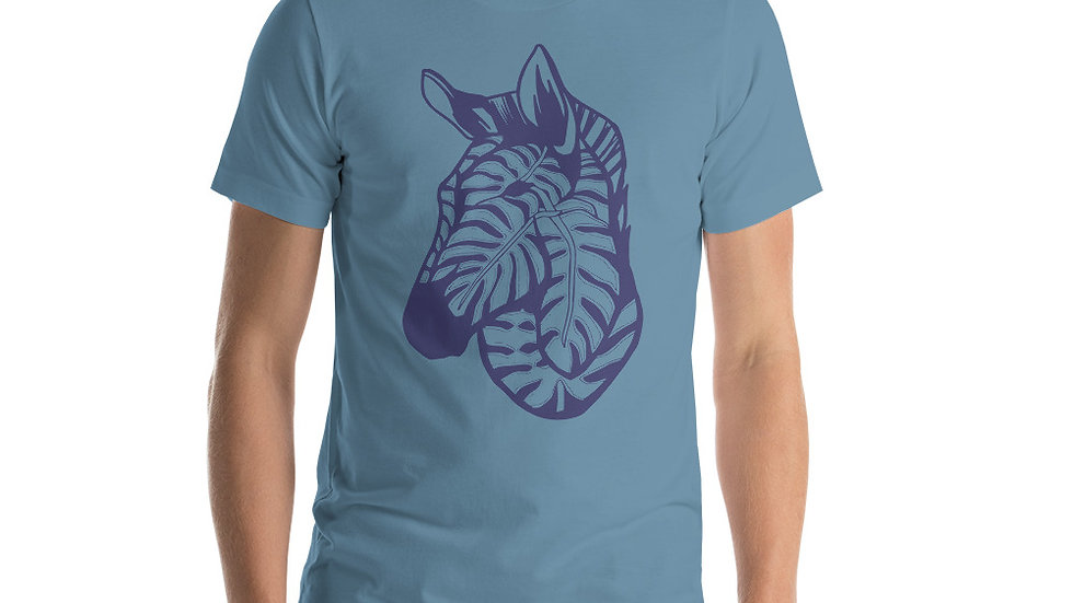 Blue Zebra with Delicious monster Short-Sleeve Unisex T-Shirt