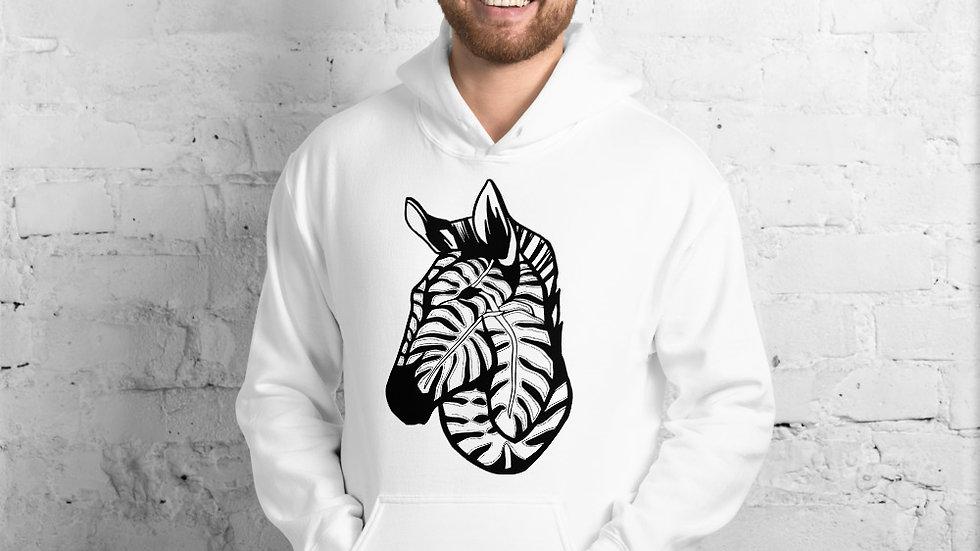 Zebra with Delicious Monster Unisex Hoodie
