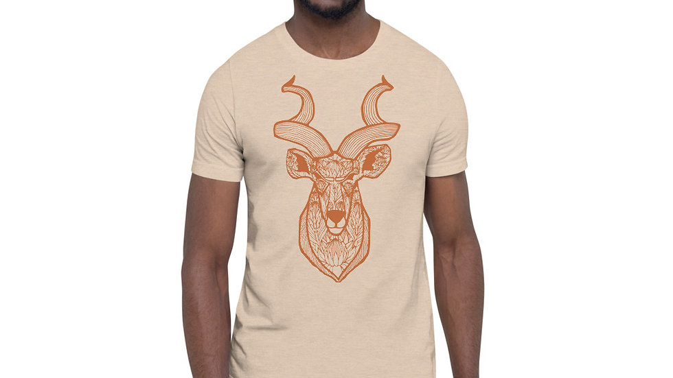 Orange Kudu with Proteas Short-Sleeve Unisex T-Shirt