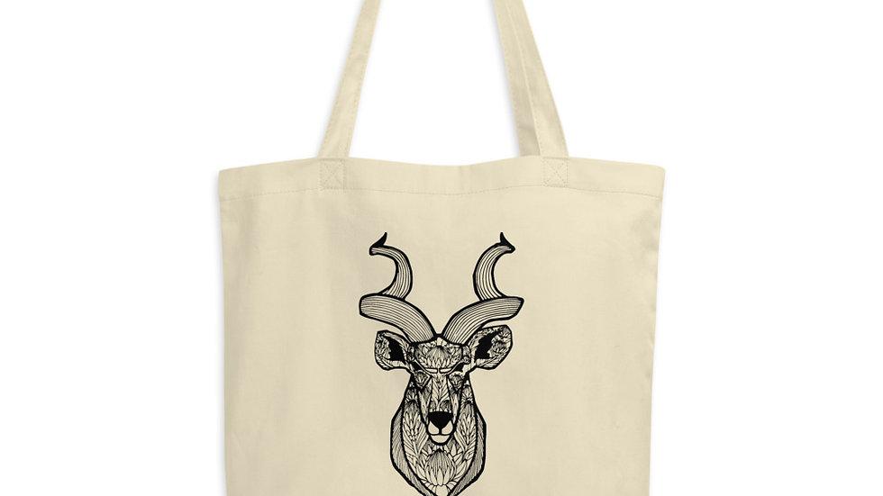 Kudu with King Proteas Eco Tote Bag