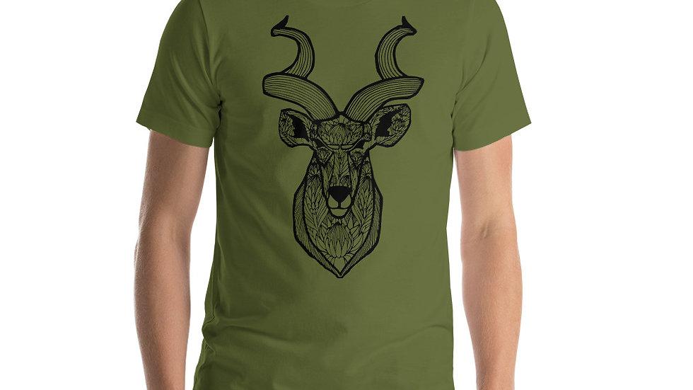 Kudu with King Proteas Short-Sleeve Unisex T-Shirt