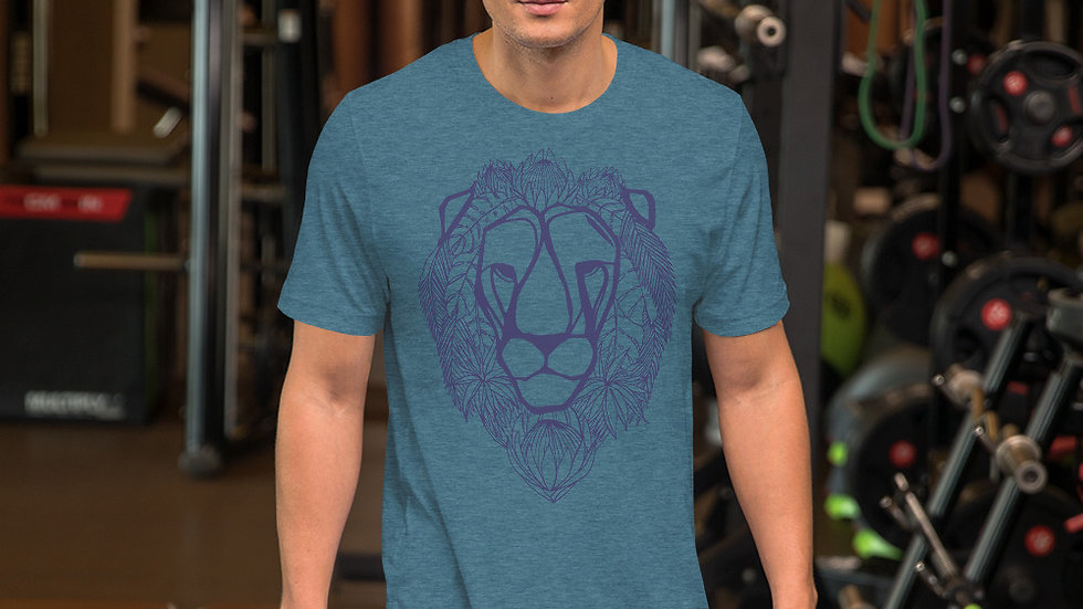 Blue lion with King Proteas Short-Sleeve Unisex T-Shirt