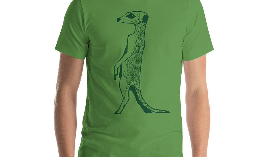 Green meerkat with Rooibos short-Sleeve Unisex T-Shirt