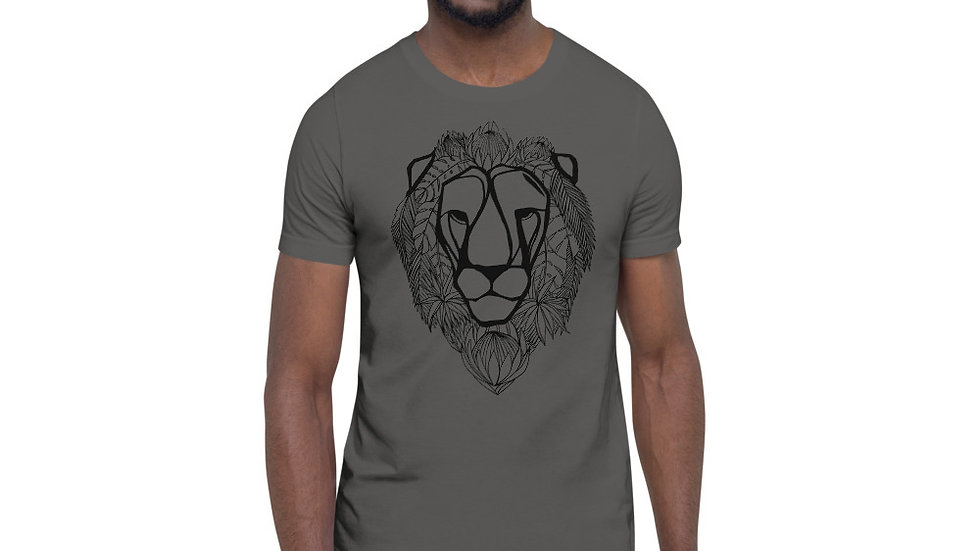 Lion with King Proteas Short-Sleeve Unisex T-Shirt