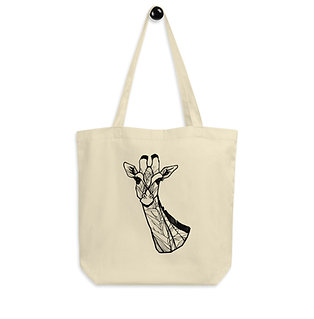 Giraffe with Strelitzia Eco Tote Bag