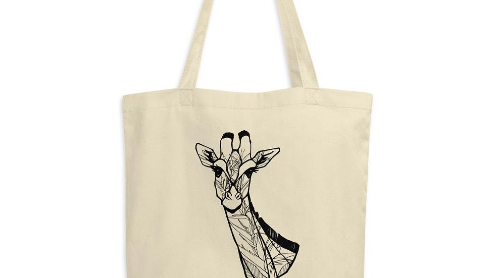 Giraffe with Strelitzia Eco Tote Bag