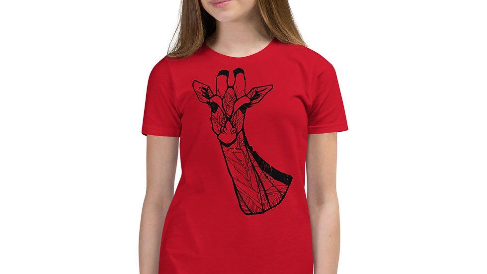 Kids - Giraffe with Strelitzia Short Sleeve T-Shirt