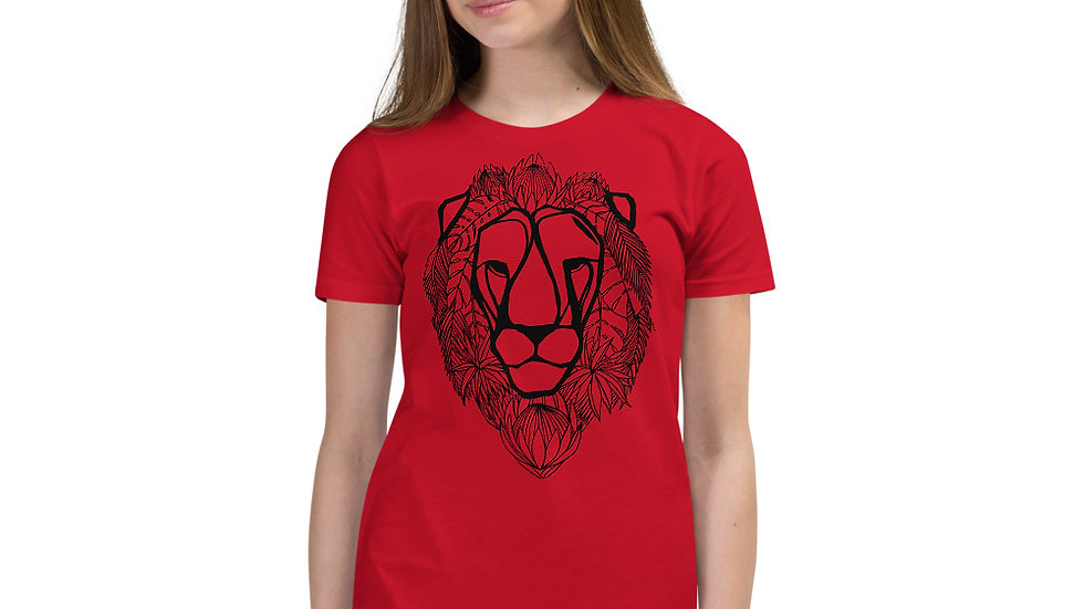 Kids Lion with Proteas Short Sleeve T-Shirt (age 9 -12)