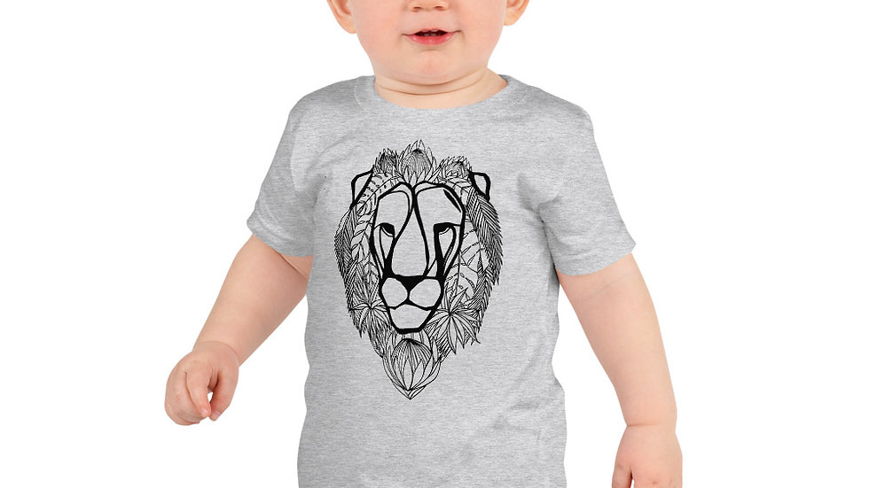 Lion with King protea age 2 - 6 yrs Short sleeve kids t-shirt