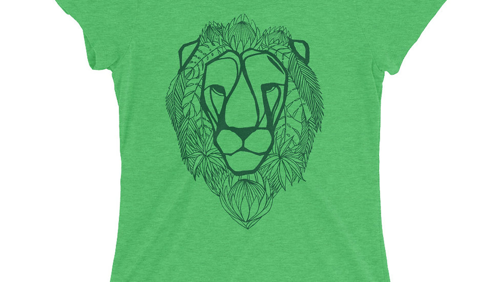 Ladies' T - Green Lion with proteas