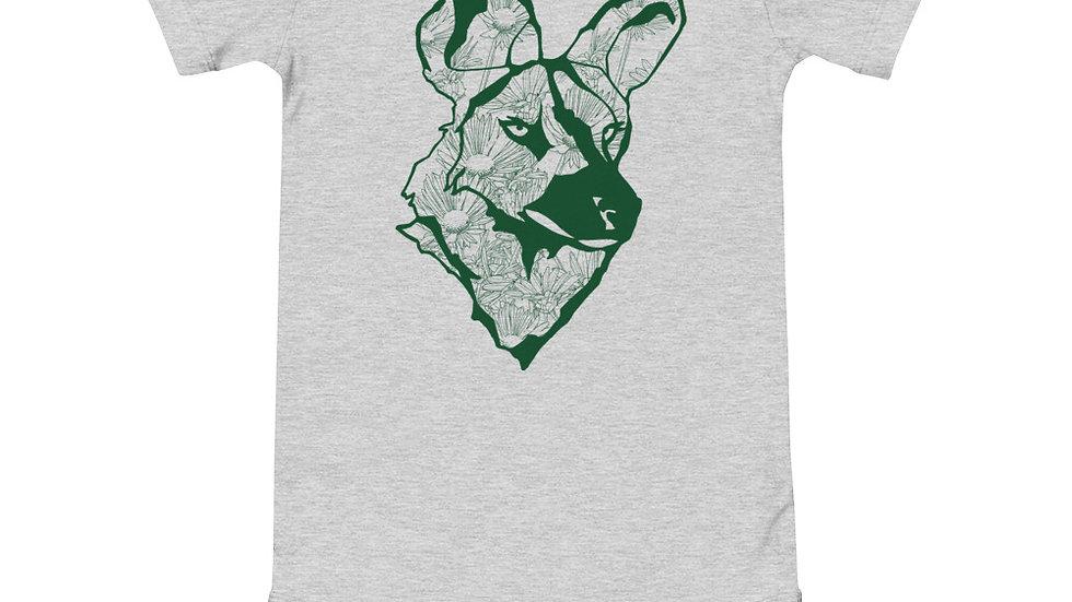 Wild dog dandelion - green print babygrow