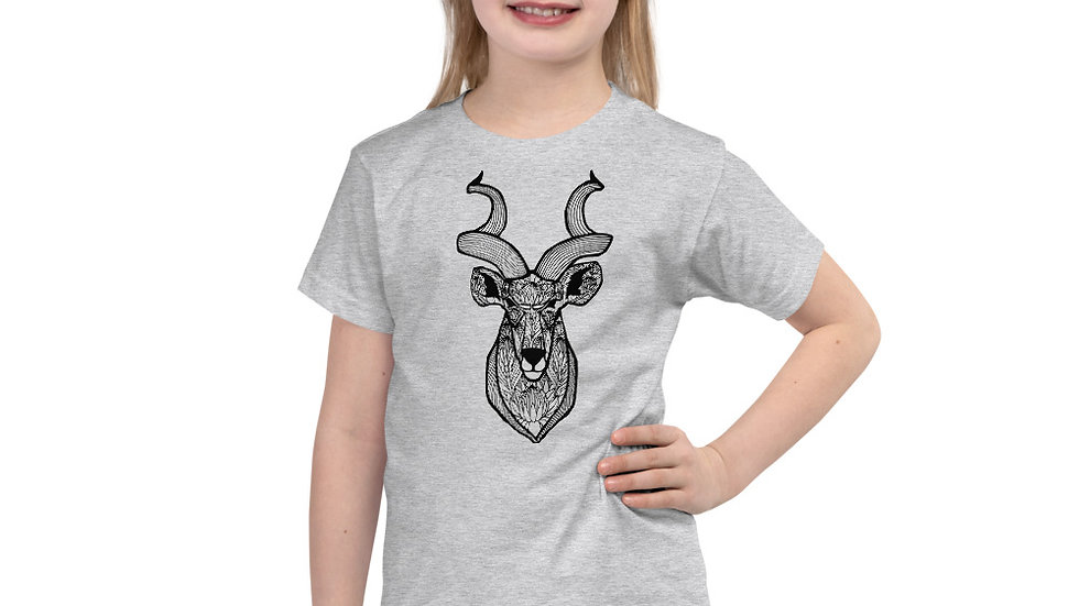 Kudu with proteas 2 - 6 yrs Short sleeve kids t-shirt copy copy copy