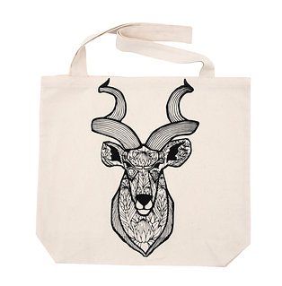 Tote bag -Kudu with king proteas