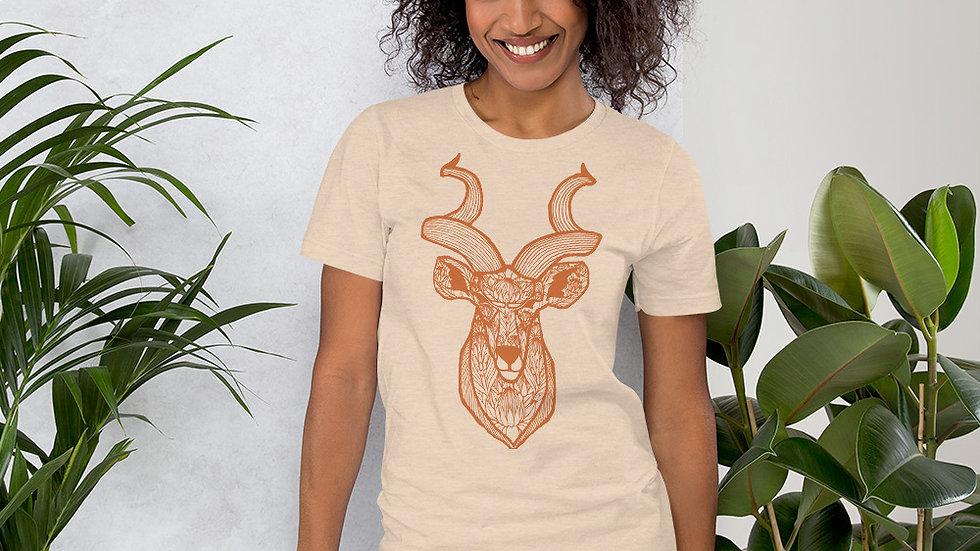 Orange Kudu with Proteas Short-Sleeve Unisex T-Shirt