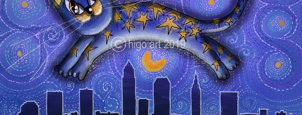 """""""Starry Cat in Cle"""""""