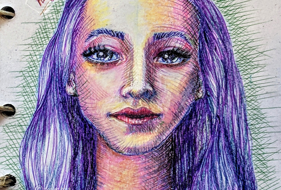 """Purple hair"""