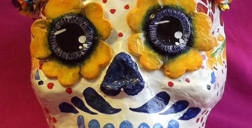 """""""Skull Catrino Puebla colorful"""""""