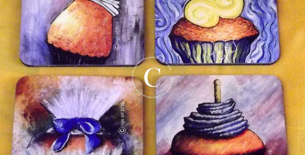 """""""Masterpiece Bakery"""" images coasters"""