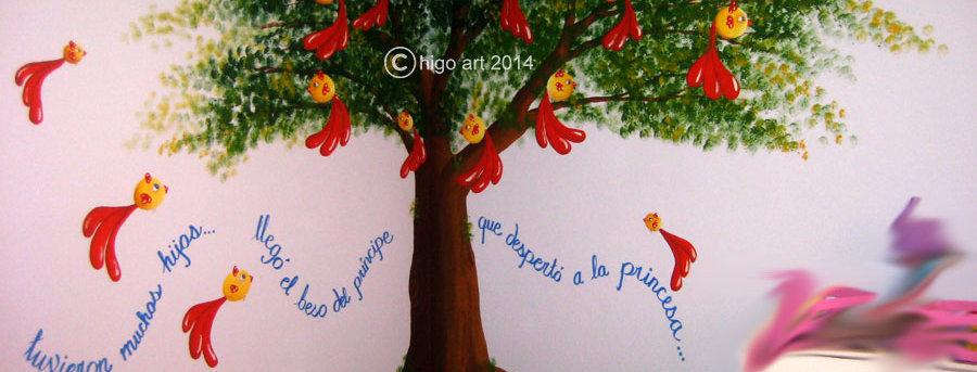 """Tree and birds corner"" mural"