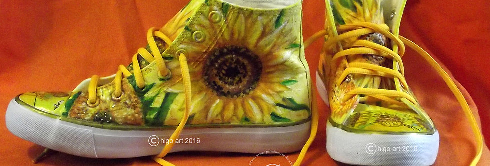 """Yellow Sunflowers"" sneakers"